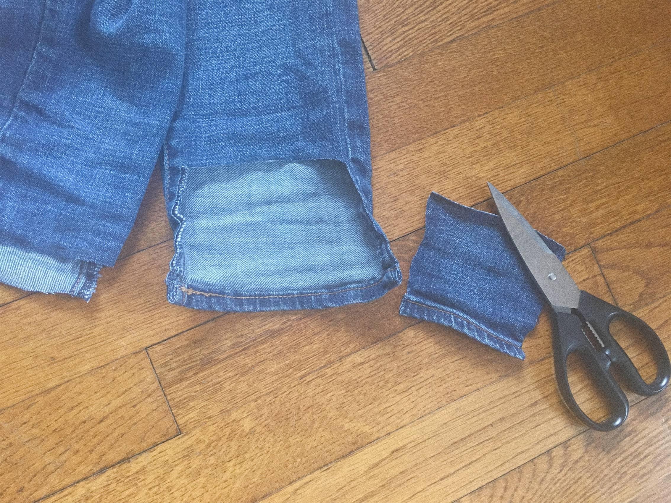 DIY Ankle Fringe Jeans